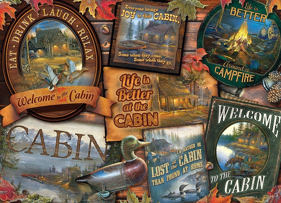 cabin-signs