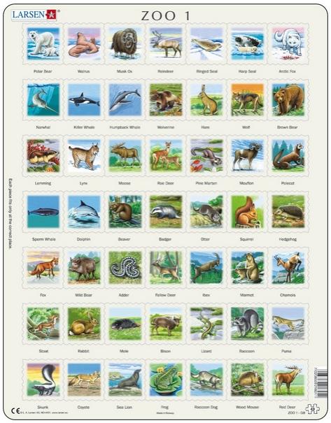 puzzle-cadre-animaux-de-l-hemisphere-nord-en-francais-