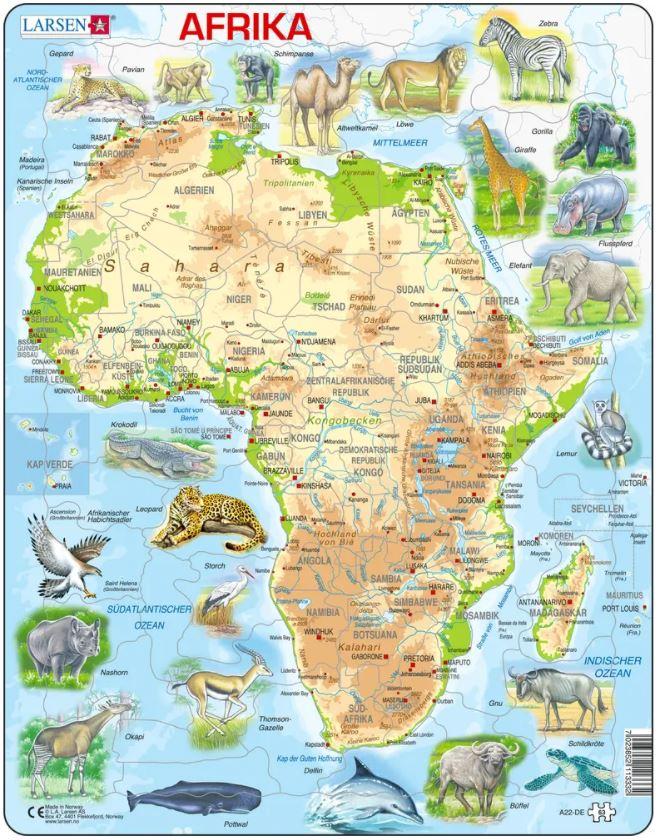 puzzle-cadre-carte-de-l-afrique-et-ses-animaux-en-allemand-