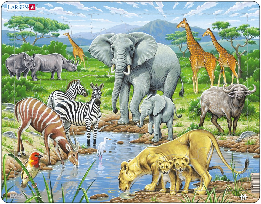 puzzle-cadre-les-animaux-de-la-savane-africaine