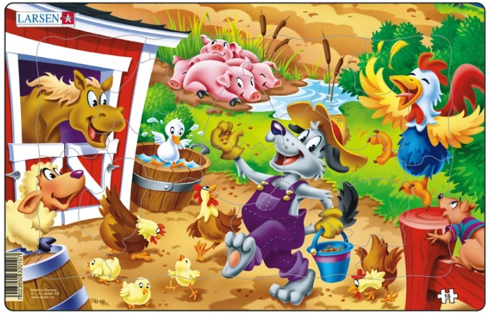 puzzle-cadre-le-loup-et-les-animaux-de-la-ferme
