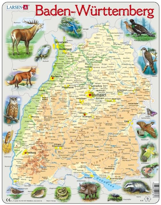 puzzle-cadre-bundesland-baden-wurttemberg-en-allemand-