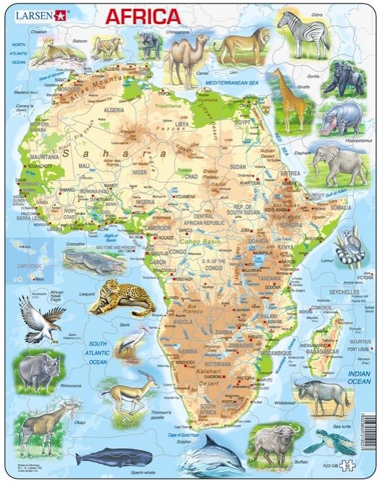 puzzle-cadre-carte-de-l-afrique-et-ses-animaux-en-anglais-