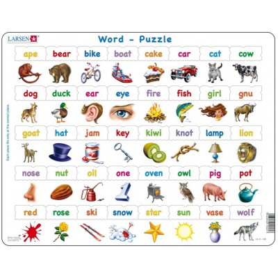 puzzle cadre apprendre langlais quelques mots en