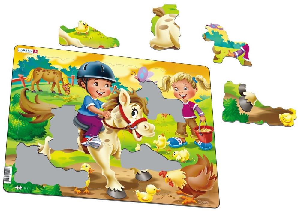 puzzle-cadre-poney-a-la-ferme