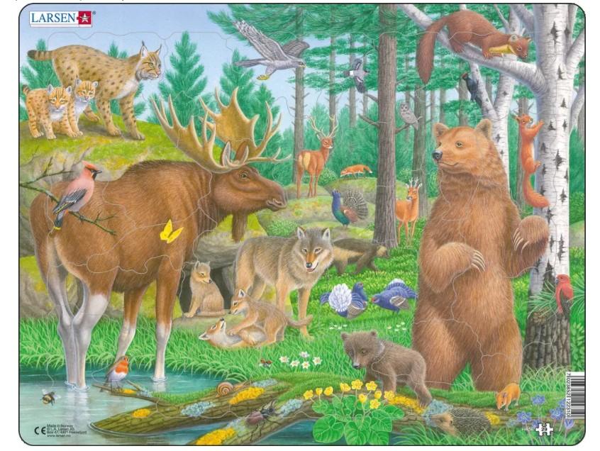 puzzle-cadre-animaux-de-la-foret