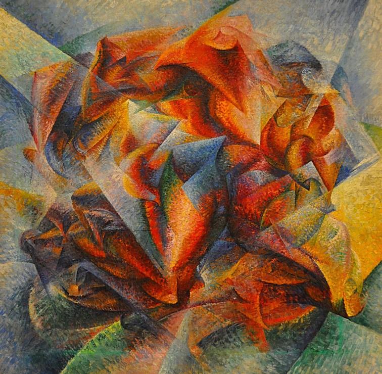 umberto-boccioni-dinamismo-di-un-ciclista-e-un-dipinto-1913