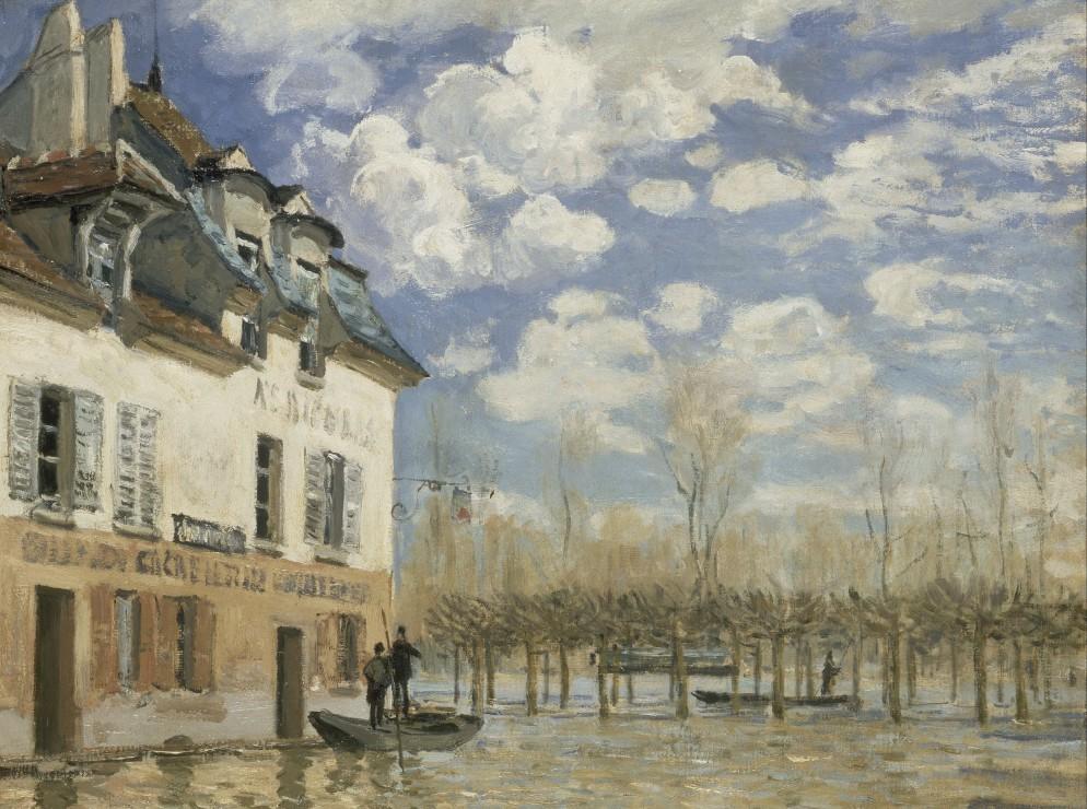 alfred-sisley-la-barque-pendant-l-inondation-a-port-marly-1876