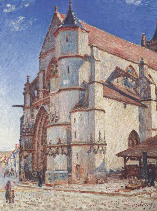 alfred-sisley-l-eglise-de-moret-1893