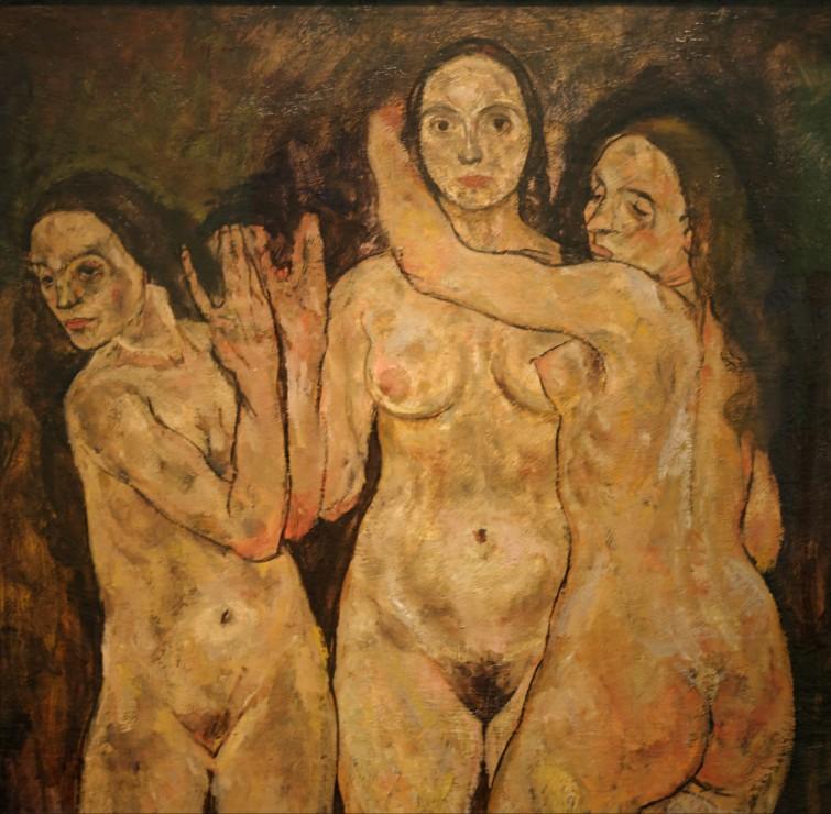 egon-schiele-trois-femmes-debout-1918