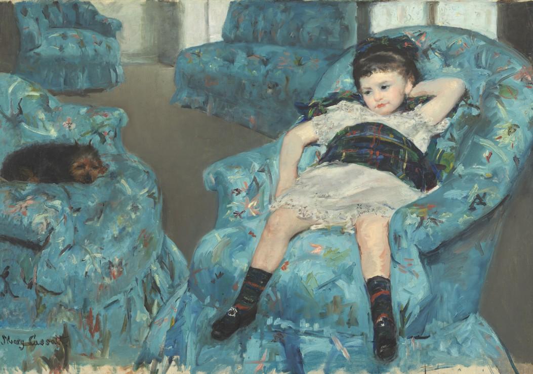 mary-cassatt-petite-fille-dans-un-fauteuil-bleu-1878