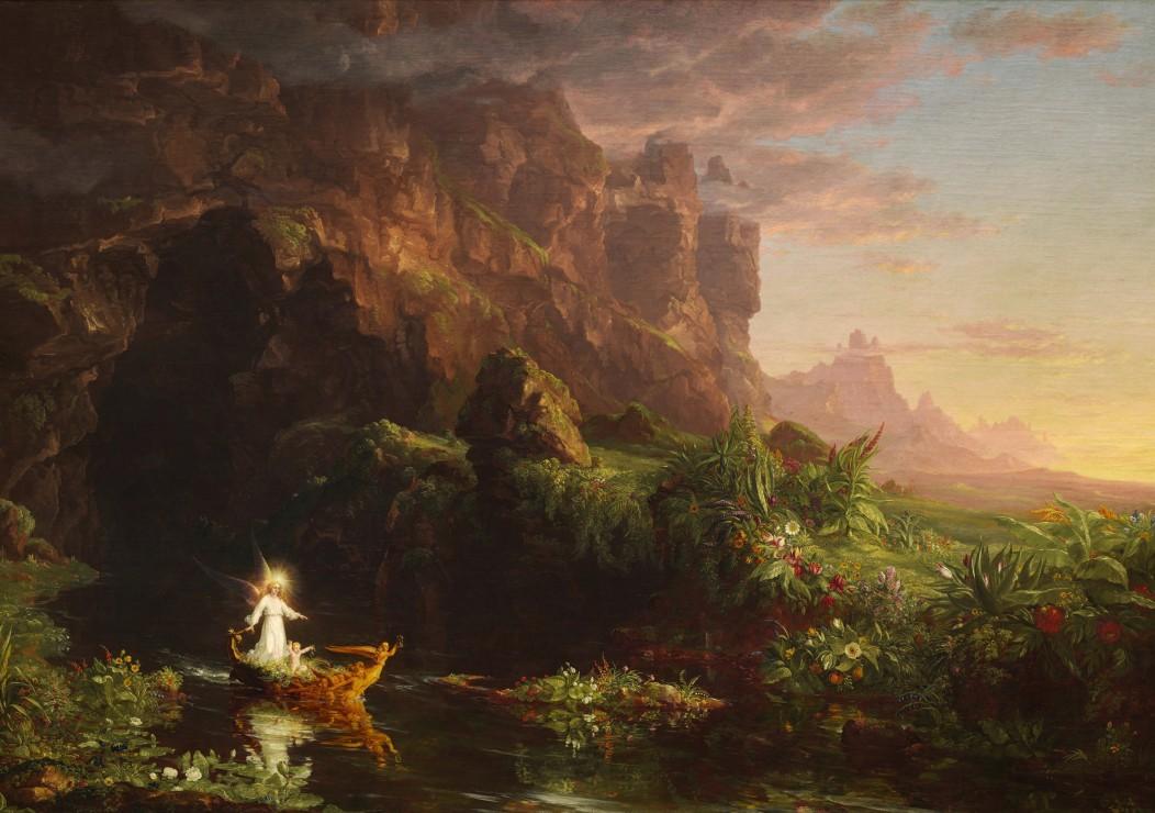 thomas-cole-le-voyage-de-la-vie-l-enfance-1842