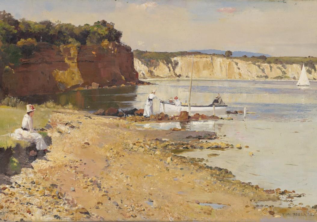 tom-roberts-slumbering-sea-mentone-1887