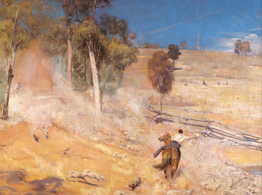 tom-roberts-a-break-away-1891