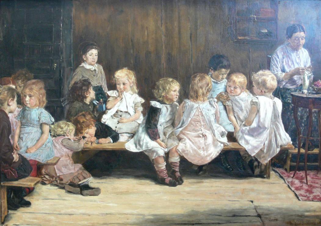 max-liebermann-ecole-maternelle-a-amsterdam-1880