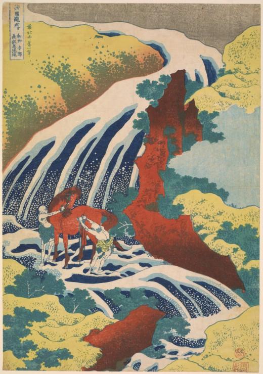 katsushika-hokusai-la-cascade-de-yoshino-1833