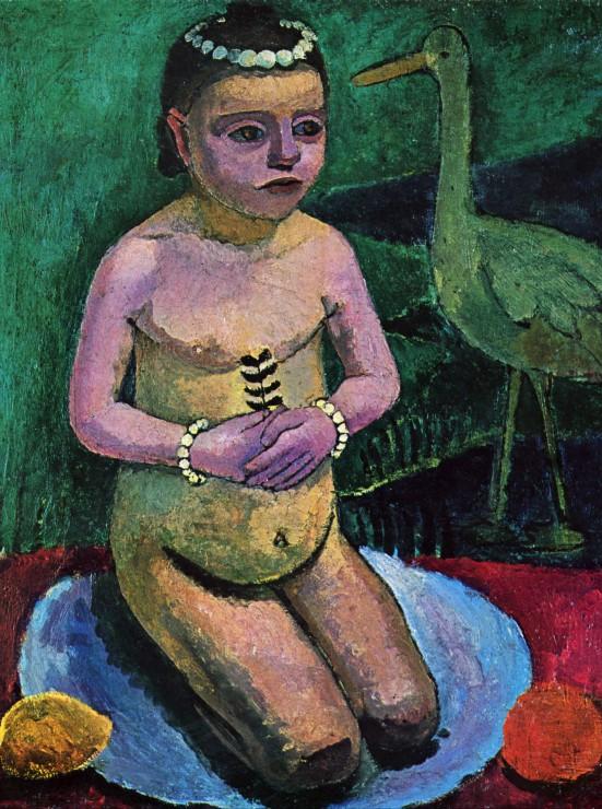 paula-modersohn-becker-enfant-nu-avec-une-cigogne-1906