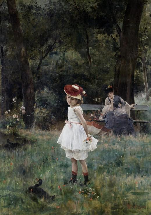 alfred-stevens-la-fillette-aux-canards-1881