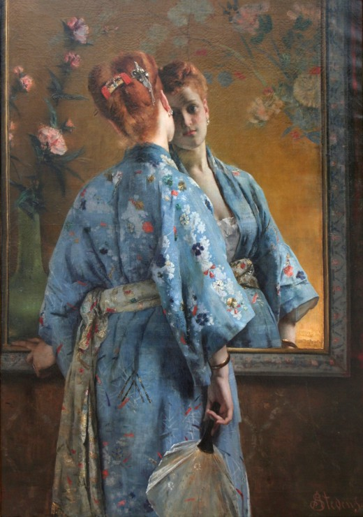 alfred-stevens-la-parisienne-japonaise-1872