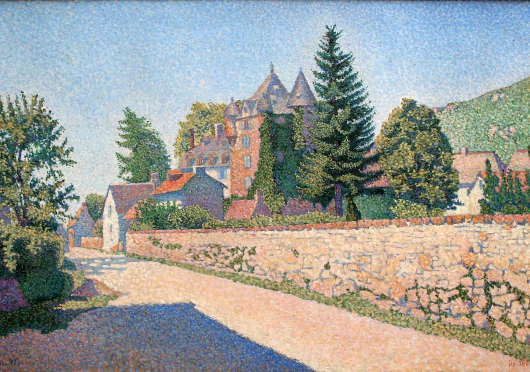 paul-signac-le-chateau-de-comblat-1887