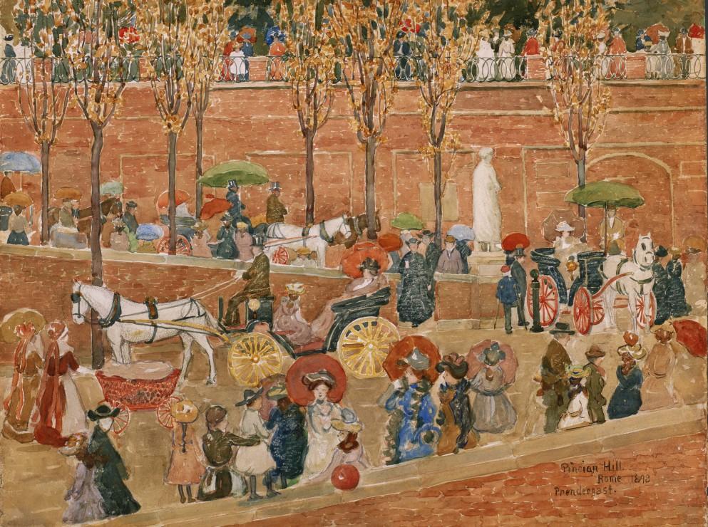 maurice-prendergast-le-pincio-rome-1898