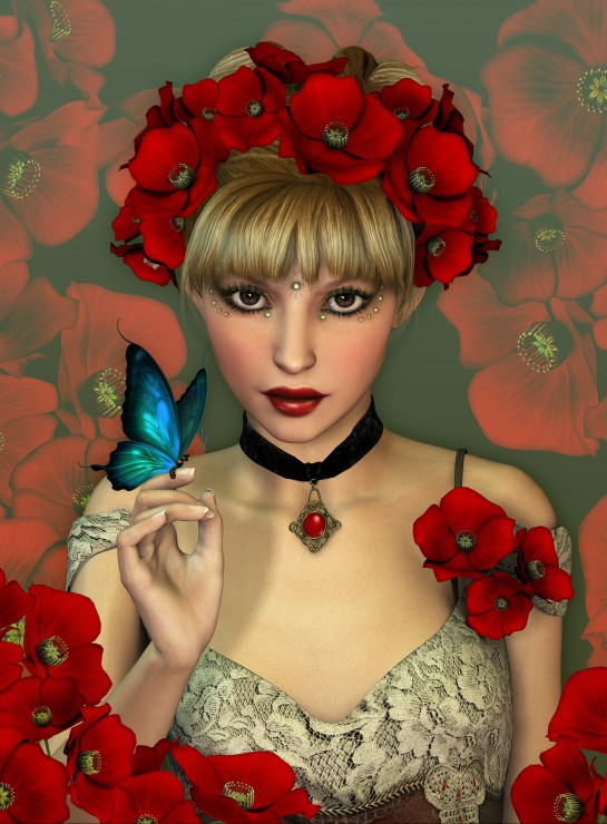 la-femme-et-le-papillon