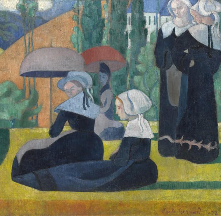 emile-bernard-les-bretonnes-aux-ombrelles-1892