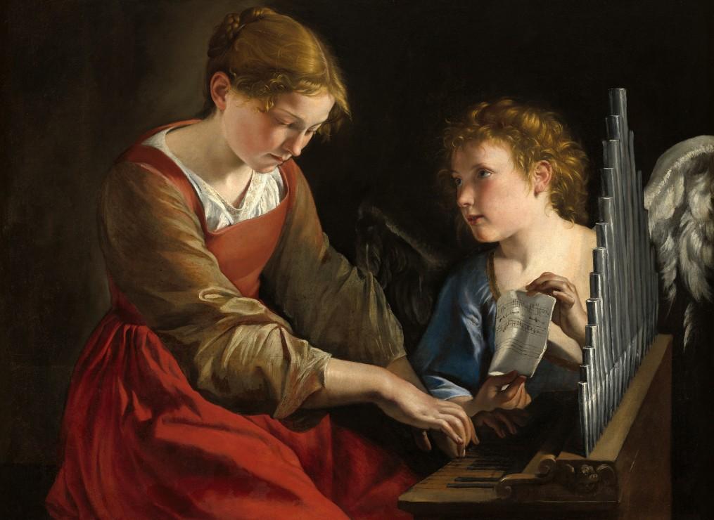 orazio-gentileschi-et-giovanni-lanfranco-sainte-cecilia-et-un-ange-1617-1618