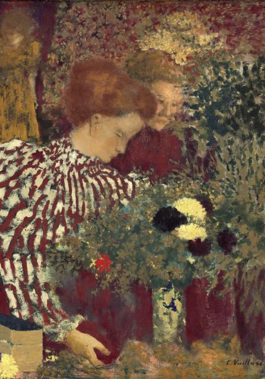 edouard-vuillard-femme-dans-une-robe-rayee-1895