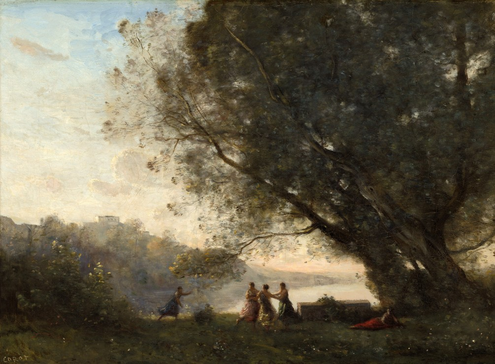 jean-baptiste-camille-corot-danse-sous-les-arbres-au-bord-du-lac-1865-1870, 24.95 EUR @ go