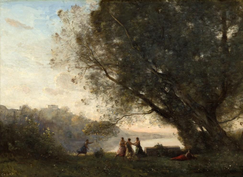 jean-baptiste-camille-corot-danse-sous-les-arbres-au-bord-du-lac-1865-1870