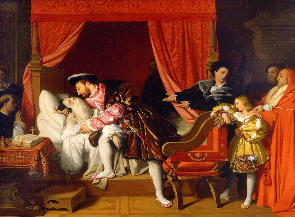 jean-auguste-dominique-ingres-francois-ier-recoit-les-derniers-soupirs-de-leonard-de-vinci-1818