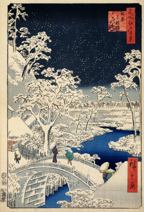 pieces-xxl-utagawa-hiroshige-drum-bridge-at-meguro-and-sunset-hill-1857