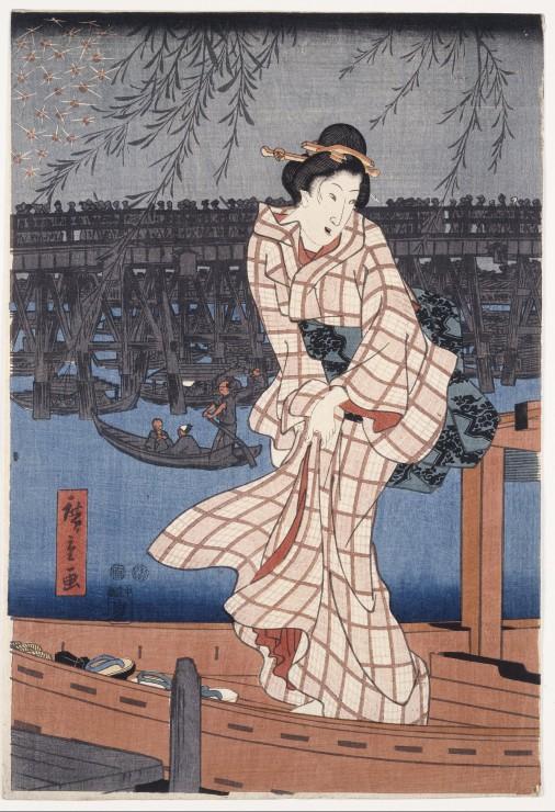 pieces-xxl-utagawa-hiroshige-evening-on-the-sumida-river-1847-1848