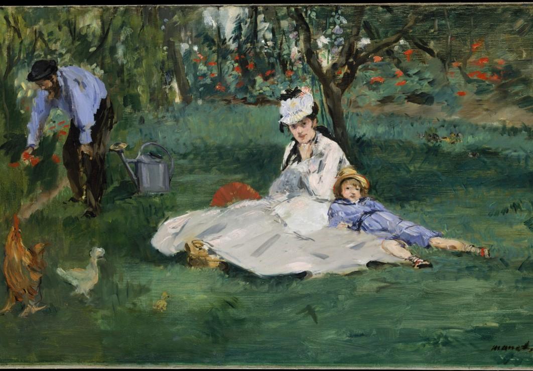 edouard-manet-la-famille-monet-dans-leur-jardin-a-argenteuil-1874