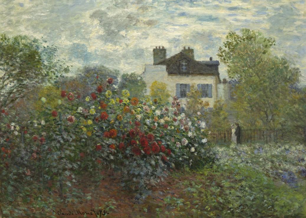 pieces-magnetiques-claude-monet-jardin-de-l-artiste-a-argenteuil-1873