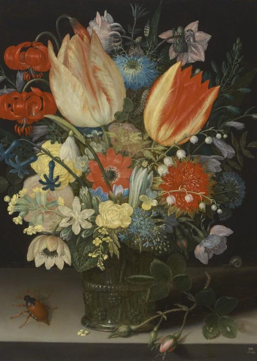pieces-magnetiques-peter-binoit-nature-morte-avec-des-tulipes-1623