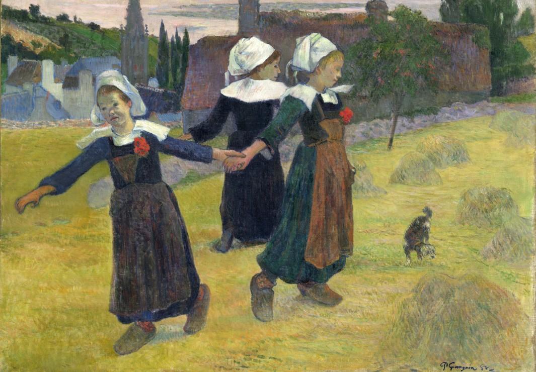 gauguin-paul-danse-bretonne-des-filles-a-pont-aven-1888