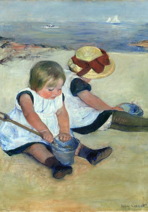 mary-cassatt-enfants-jouant-a-la-plage-1884