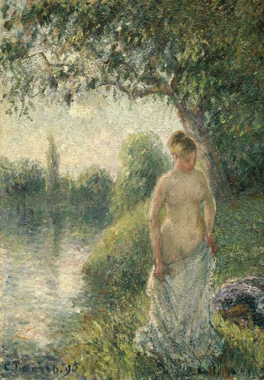 pissarro-camille-la-baigneuse-1895