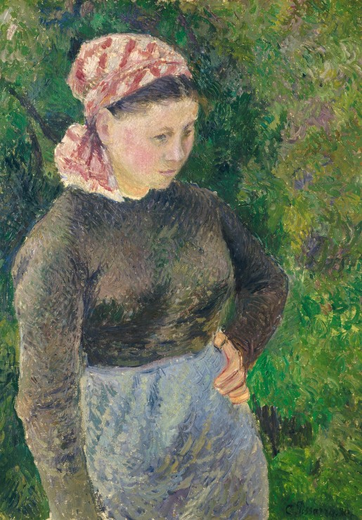 camille-pissarro-paysanne-1880