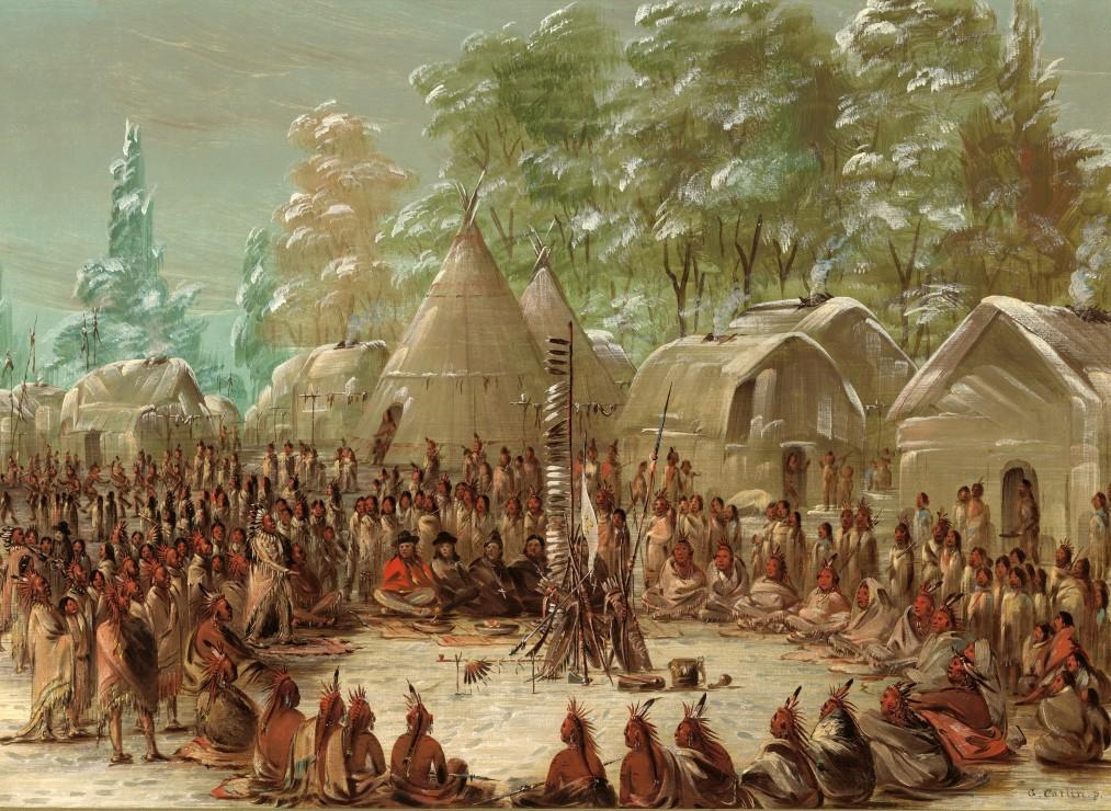 george-catlin-fete-de-la-salle-dans-le-village-de-l-illinois-2-janvier-1680-1847-1848