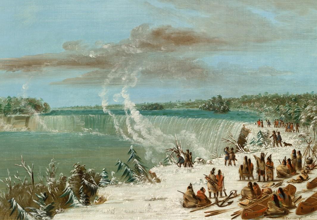 george-catlin-portage-autour-des-chutes-de-niagara-a-table-rock-1847-1848
