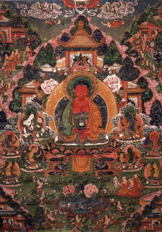 buddha-amitabha-in-his-pure-land-of-suvakti