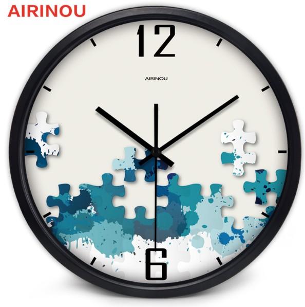 pendule-murale-en-metal-motif-puzzle-30-cm