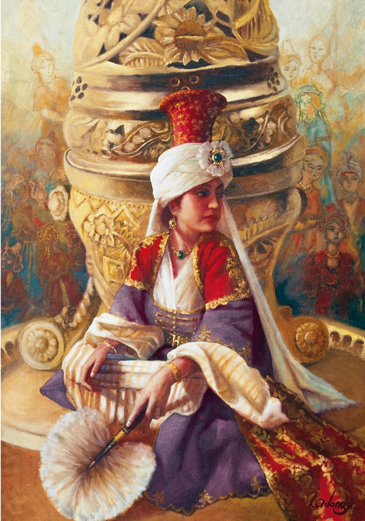 kamil-aslanger-sultan-mahi-nigar-and-incensory