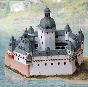 maquette-en-carton-chateau-du-palatinat-sur-le-rhin-pres-de-kaub, 10.90 EUR @ go