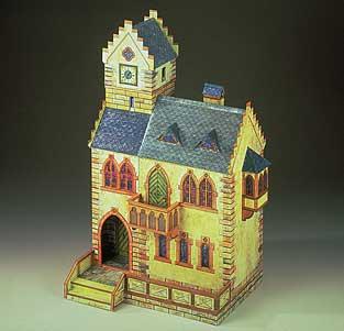 maquette-en-carton-hotel-de-ville-medieval