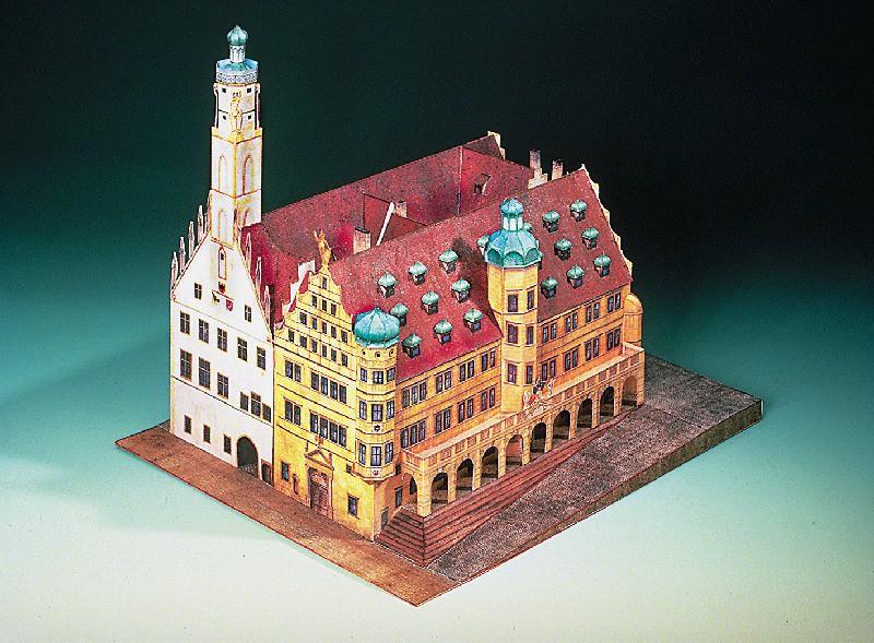 maquette-en-carton-hotel-de-ville-de-rothenbourg