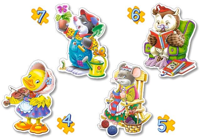 Image de 4 Puzzles : Temps libre Castorland